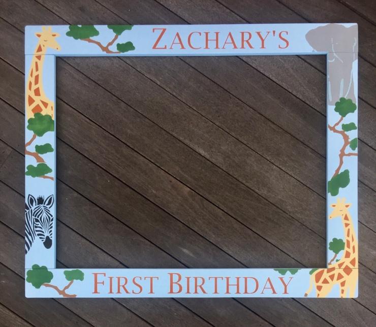 1st Birthday Photobooth Frame Prop
