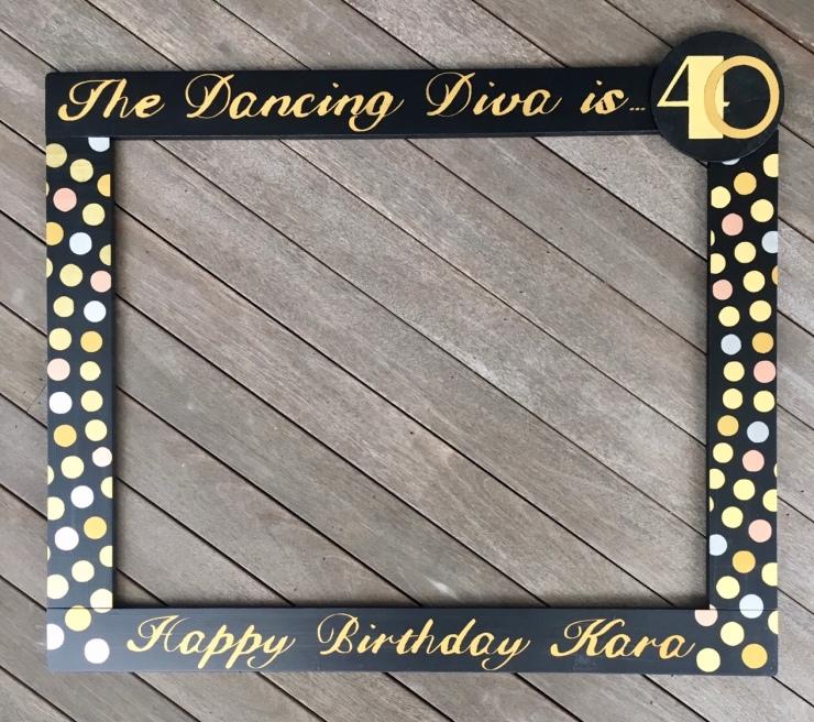 40th Birthday Photo Frame Prop