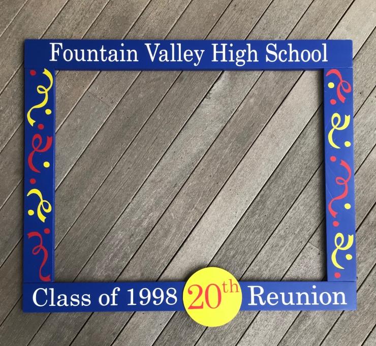 20th Class Reunion Frame Prop
