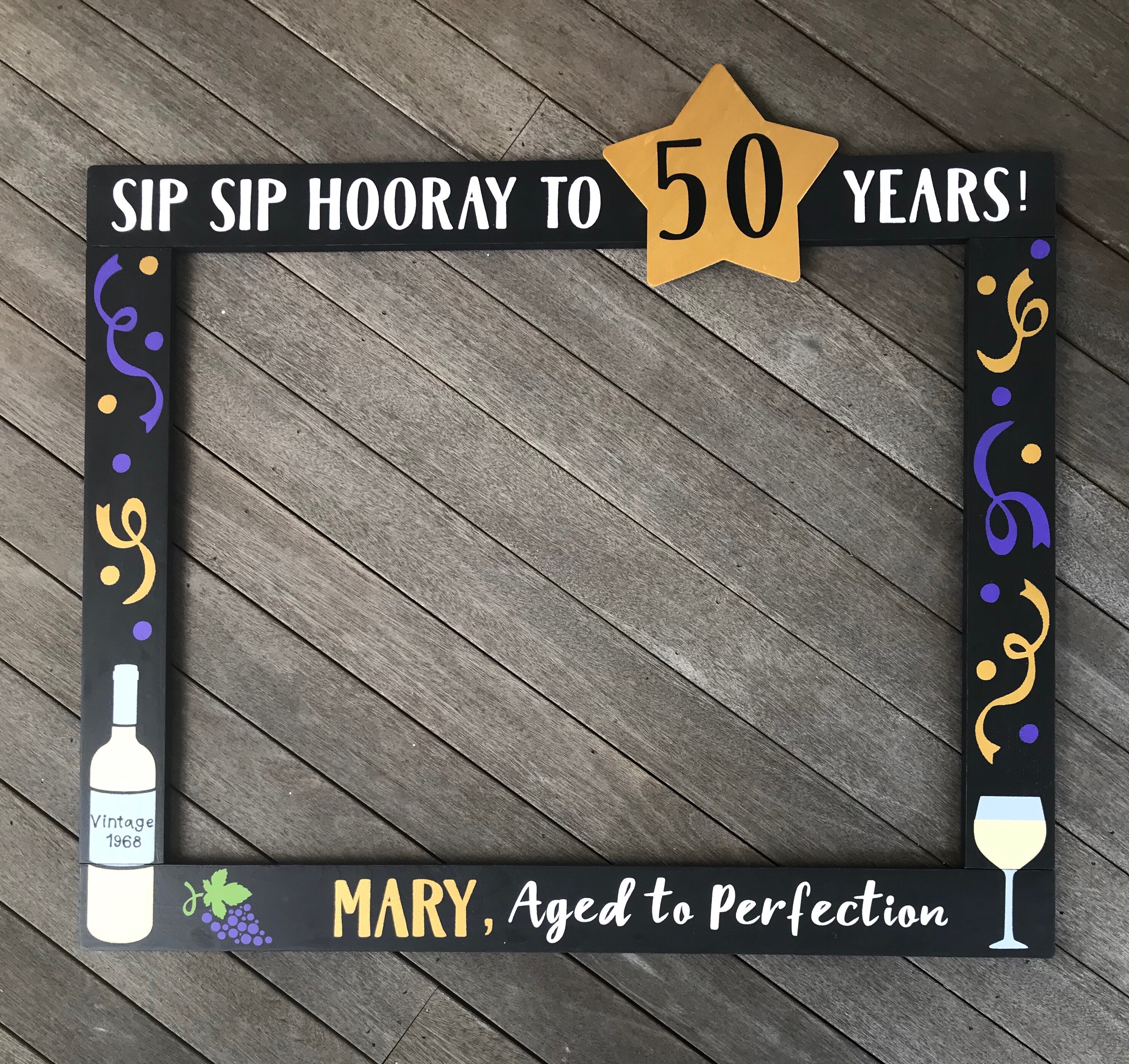 Wine Photo Booth Frame Prop
