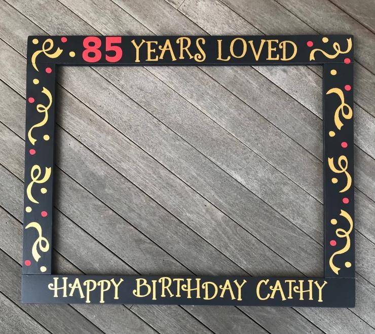 85th Birthday Frame Prop