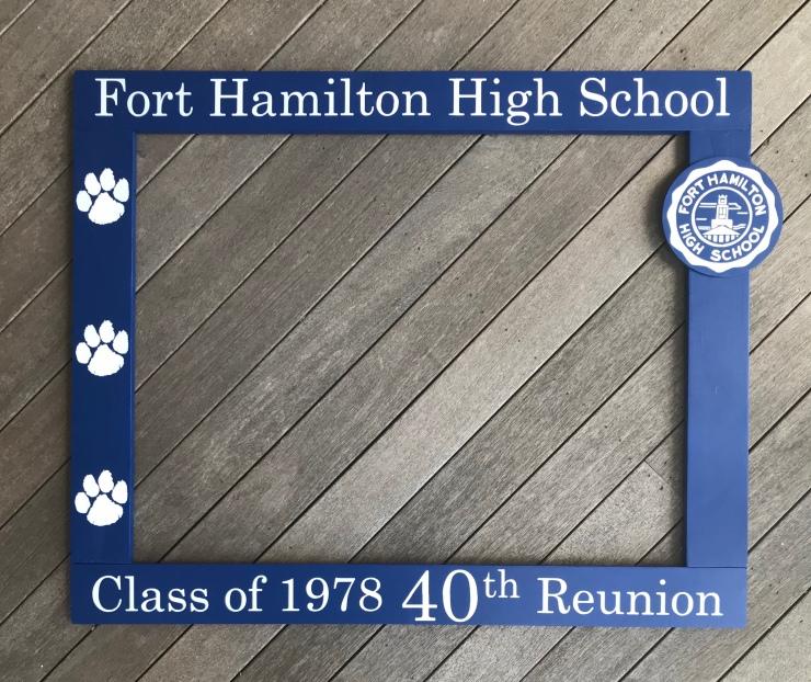 Class Reuion Photo Frame Prop