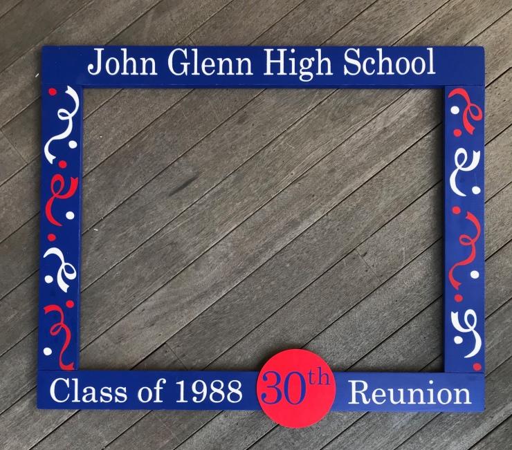 30th School Reunion Frame Prop