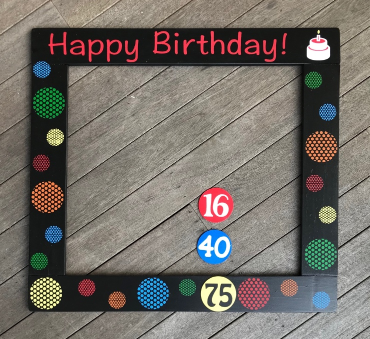 Birthday Picture Prop