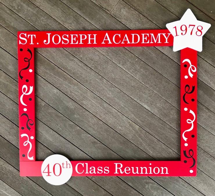 Class Reunion Photo Booth Frame