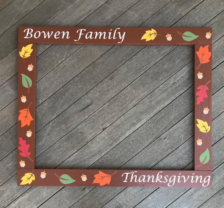 Fall Photo Booth Frame
