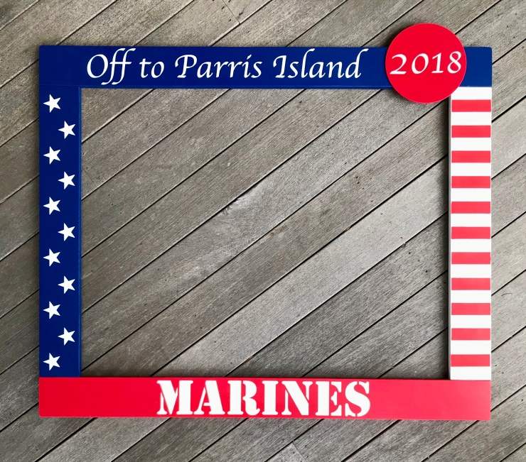 Marines Photo Booth Frame Prop