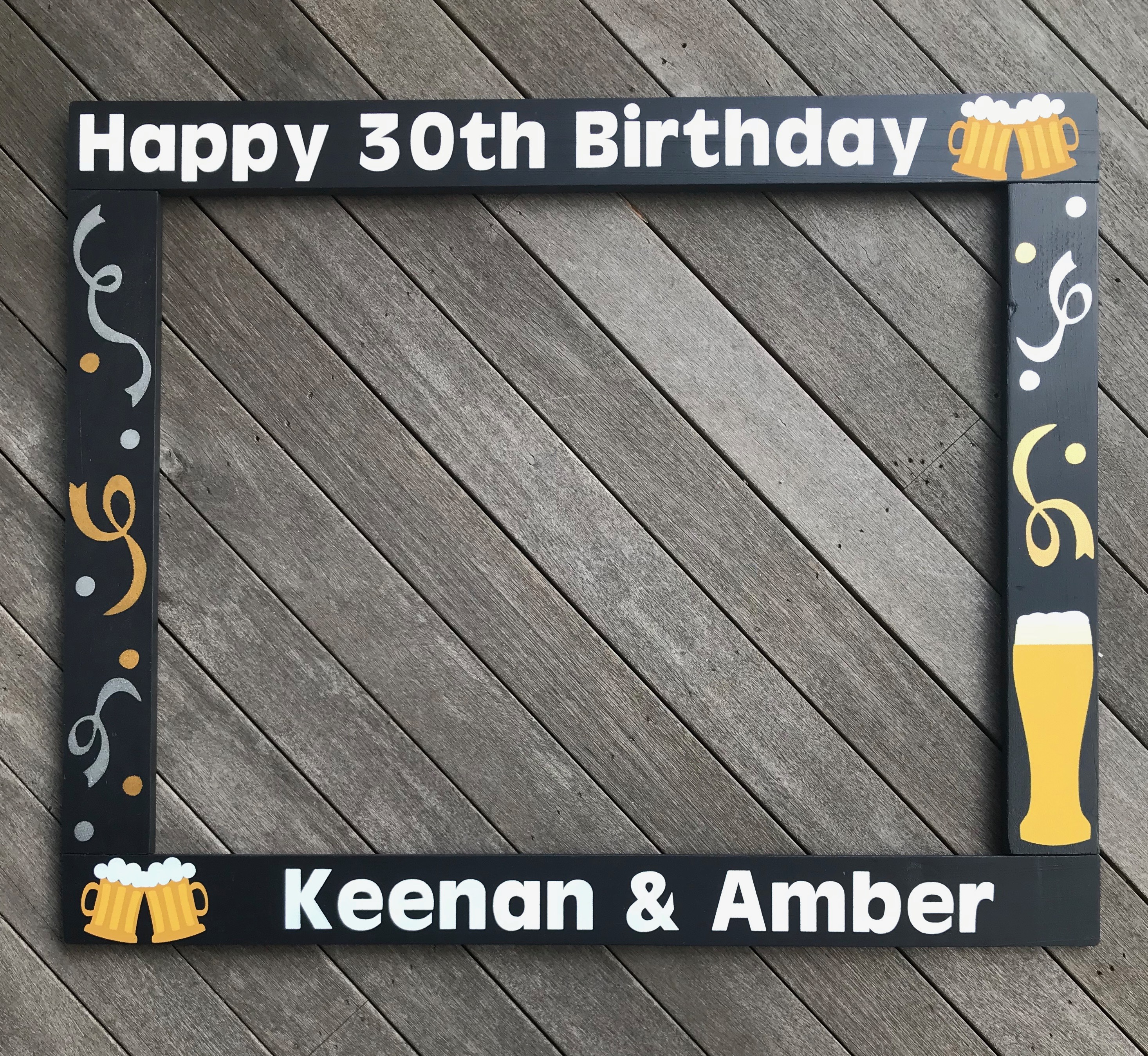 30th Birthday Beer Photo Booth