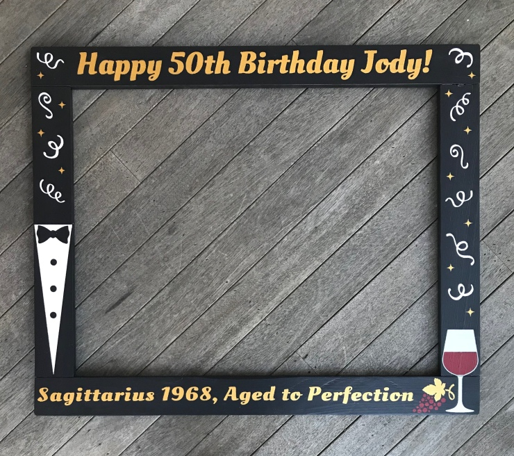 Aged to Perfection Birthday Photo Prop