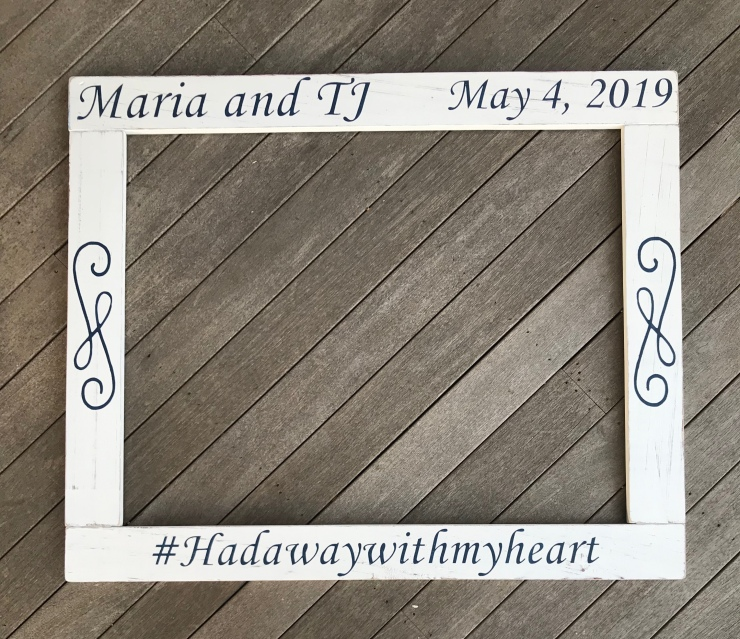 Save the Date Photo Frame Prop