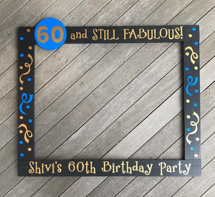60th Birthday Frame Prop